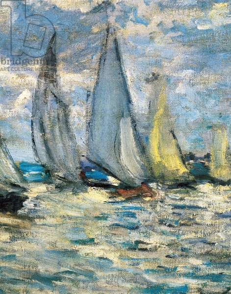 The boats or regatta in Argenteuil (detail) around 1874, (oil on canvas)