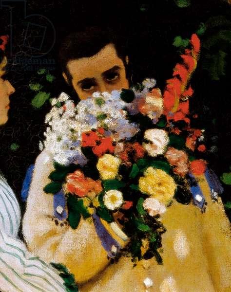 Women in the Garden, detail, 1866-1867 (oil on canvas)