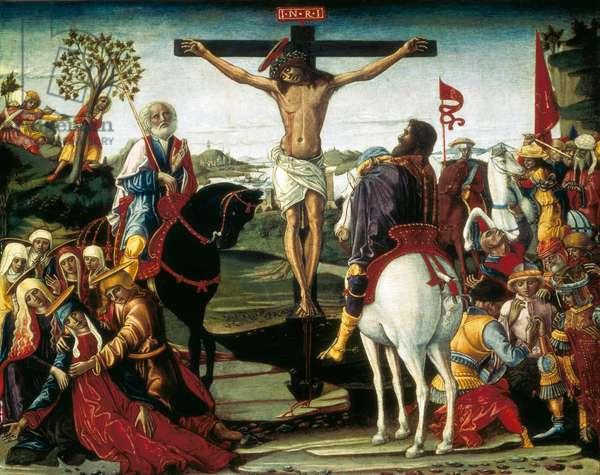 The crucifixion, painting by Benvenuto di Giovanni, c.1490
