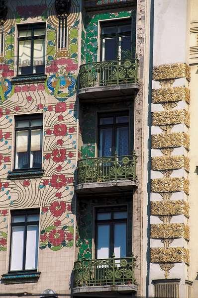 Jugendstil architecture (art nouveau): the Majolica house