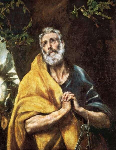 """The Tears of Saint Peter"", c.1594-1604 (oil on canvas)"