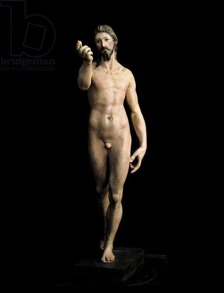 Christ Resurrected (painted plaster)