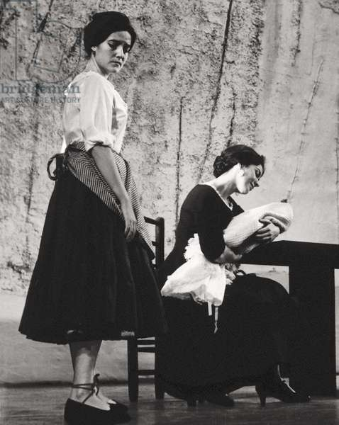 "Representation of """" Yerma """" by Federico Garcia Lorca (1898-1936) staged by Luis Escobar. Teatro Eslava Madrid 1960"
