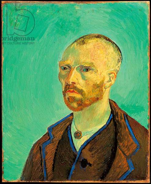 Self-portrait dedicated to Gauguin, 1888 (oil on canvas)