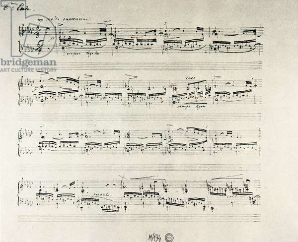 """Score of """"Etudes for piano opus 10"""" by Polish composer Frederic Chopin (1810-1849)"""