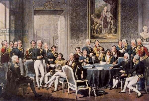 Congress of Vienna 1814 (colour engraving)