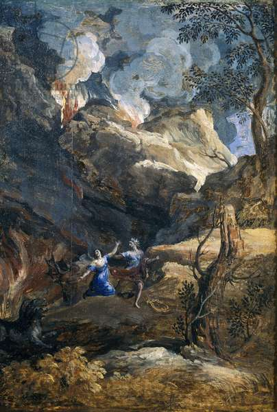 Orpheus and Eurydice, 1648 (oil on canvas)