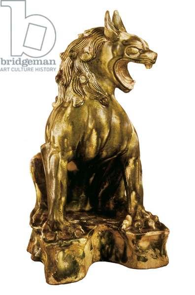 Ceramic Lion, 7th-10th century, Tang Period (ceramic)