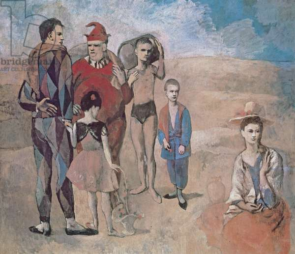 """""""Family of Stimbanks"""" (pink period), 1905 (oil on canvas)"""