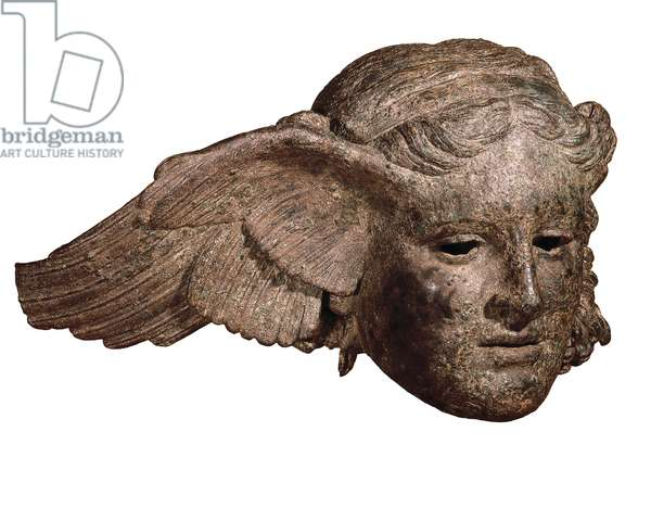 Bronze head of Hypnos, god of sleep (Greek mythology). 1st century. Bronze sculpture. Roman copy, from Perugia, Civitella d'Arno, of a Greek sculpture dating from the 4th century BC London, The British Museum.