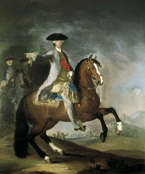 Portrait of Charles III of Bourbon King of Spain (oil on canvas)
