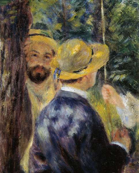 The swing (detail). Portrait of Norbert Goeneutte, French painter (1854-1894), 1876 (oil on canvas)