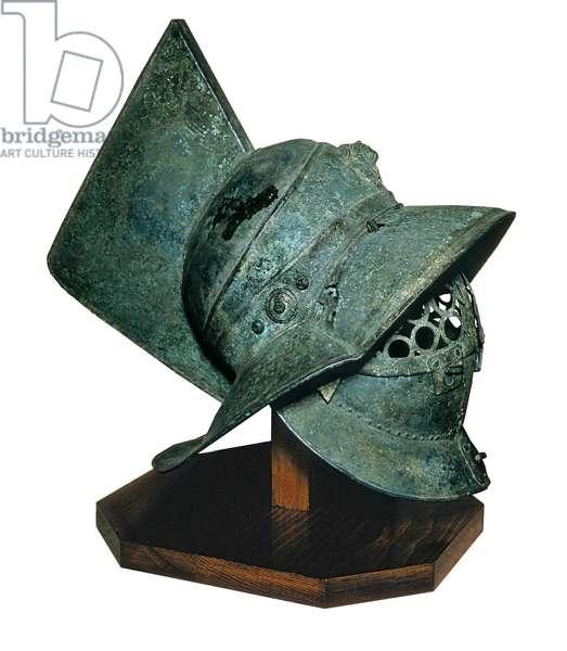 Bronze Gladiator Helmet from Pompei, 1st century AD (bronze)