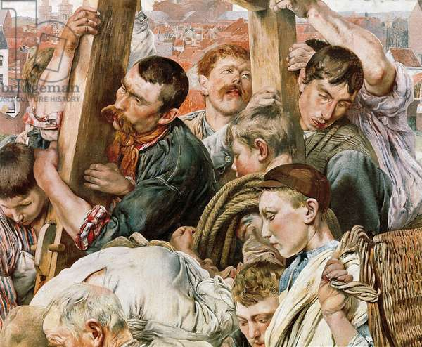 The ages of the worker, detail, 1895-97 (painting)