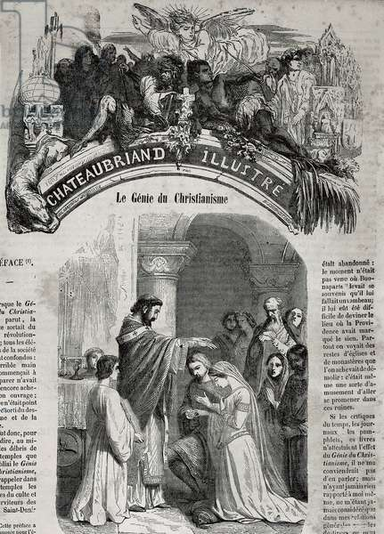 The Genie of Christianity, 1802 (engraving)