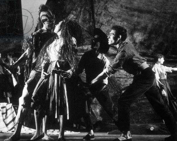 "Representation of the piece """" Yerma """" by poet and playwright Federico Garcia Lorca (1898-1936) performed by Aurora Bautista, Carmelo Valverde, Mr. Paz Ballesteros y Arturo Lopez. Teatro Calderon (Madrid), January 1961."