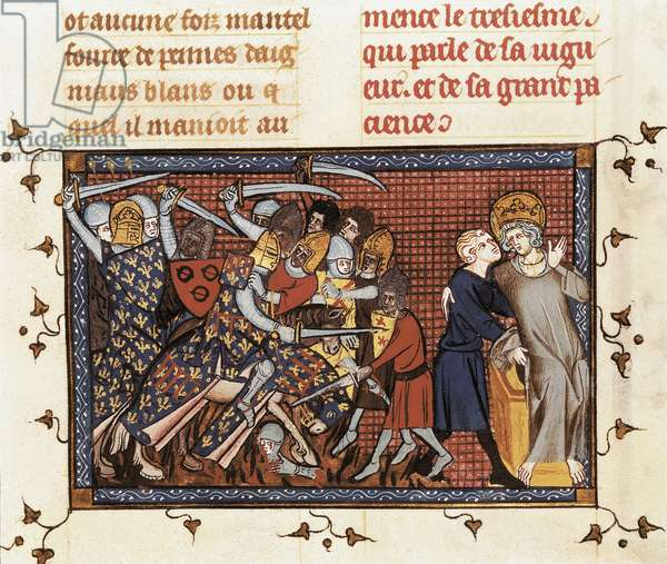 "Seventh Crusade (1248-1254): """" King Louis IX (1214-1270) Suffering and His Servant Ysembart le Queu """
