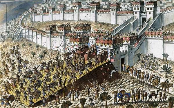The Sumerian city of Lagash under assault, 701 BC