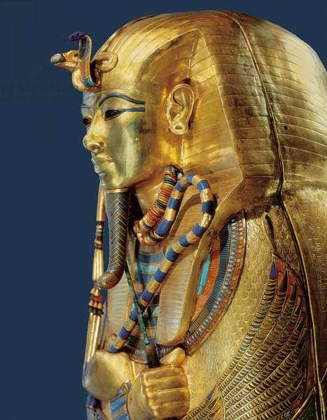Egyptian civilization, Tutankhamen's sarcophagus, decorated in gold and semi-precious stones