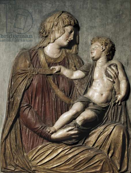 Madonna and child, 1527 (plaster and polychrome papermaché)
