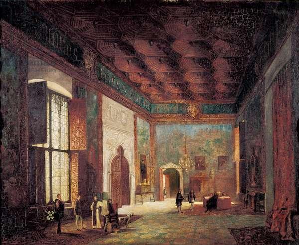Palace Mosen Sorell. Anonymous Spanish painting, 19th century. Oil on canvas. Valencia, San Pio V Fine Arts Museum.