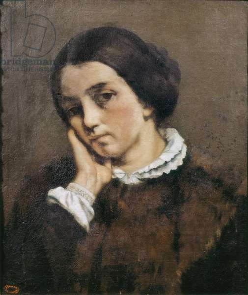 """Portrait of  Zelie Courbet"" 1846 (oil on canvas)"