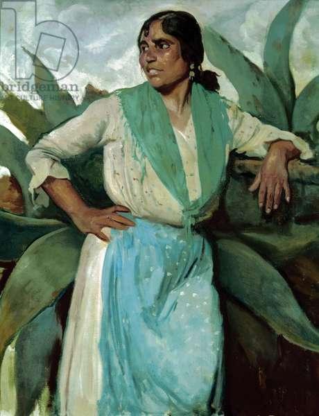 Gypsy woman, c.1929 (oil on canvas)