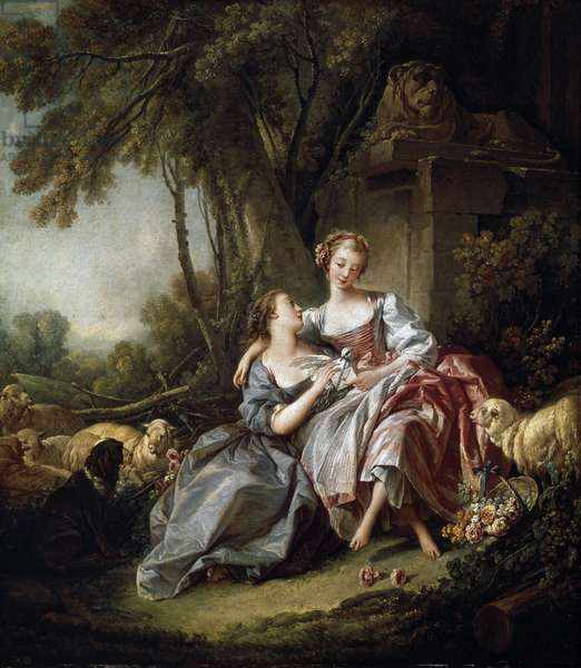 The love letter, 1750 (oil on canvas)