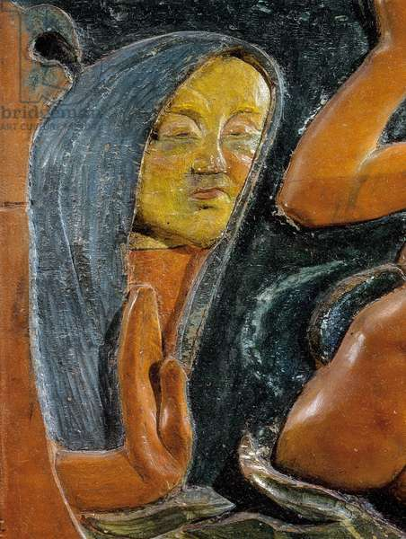 Be mysterious (detail) 1890 (polychrome wooden carving)