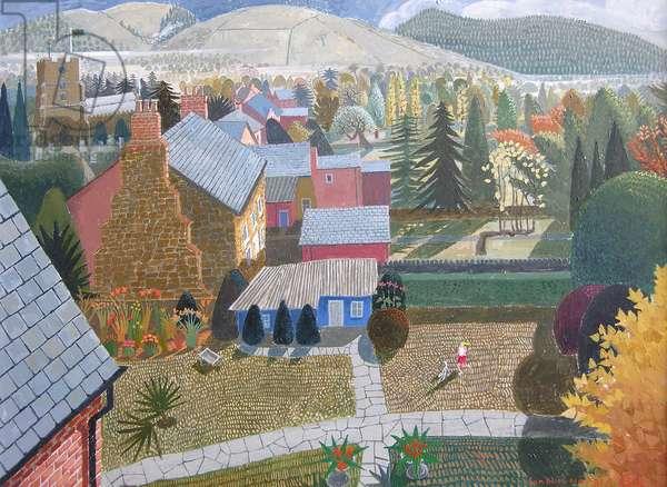 Autumn in Presteigne, 2006 (acrylic)