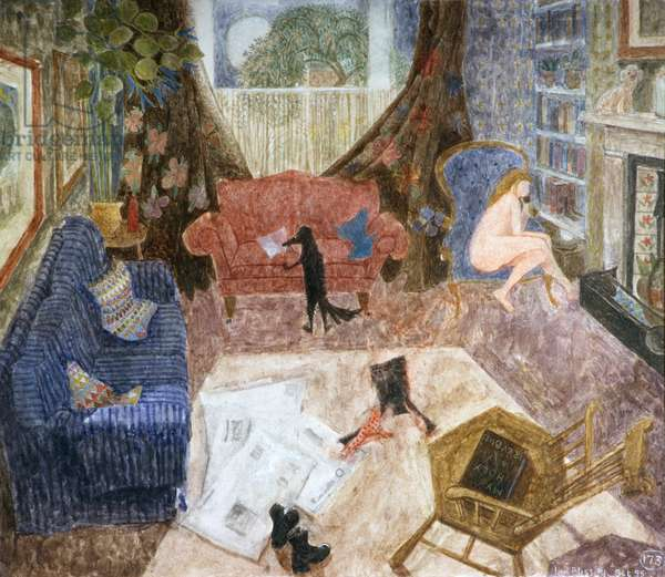 Bess Reading, Jill on the Phone, 1993 (w/c on paper)