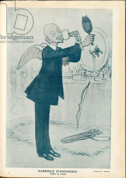 Fantasio, 1911_5_15 - Illustration of A Barrere (1874-1931): Italy - D'Annunzio Gabriele