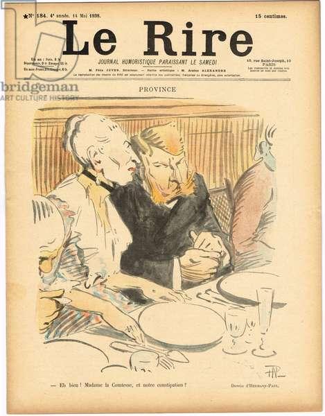 "Cover of """" Le Lire"""", Satirical en Colours, 1898_5_14: Province - Province Illustration by Hermann-Paul (1864-1940)"