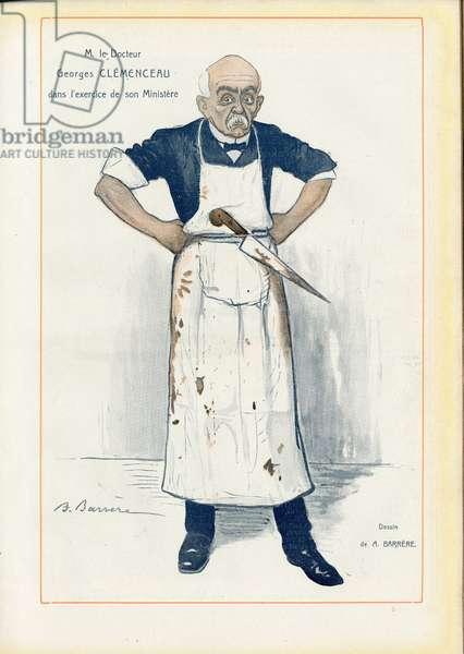 Fantasio, 1906_10_1 - Illustration of A Barrere (1874-1931): Medical, medicine, health, Metiers - Clemenceau George, Medicine, Boucher
