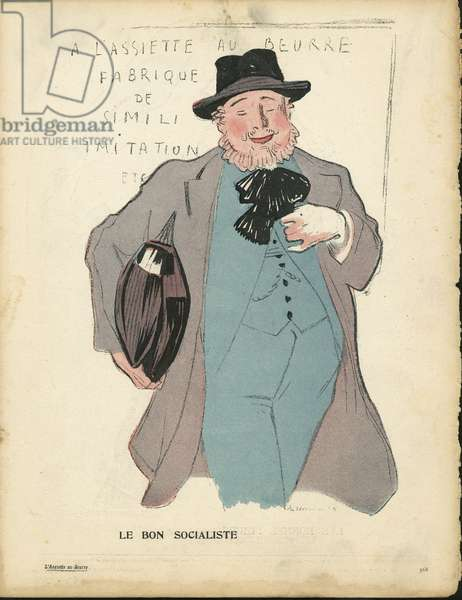The Butter Plate, number 231, Satirical in Colours, 1905_9_2: The Good Socialist - Socialism - Socialist - Illustration by Hermann-Paul (1864-1940)