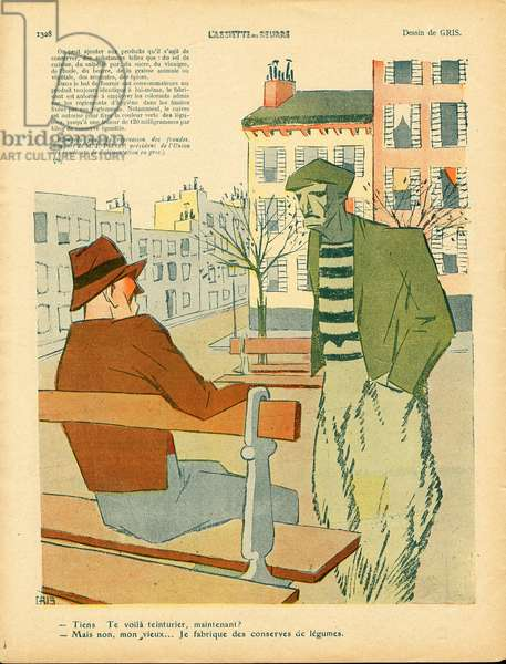 L'Plate au beurre, number 447, Satirique en couleurs, 1909_10_23: Metiers, Architecture Urbanisme, Legumes - Illustration by J Gris (1887-1927)