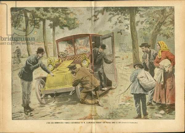 Illustration by Achille Lemot (1846-1909) in Le Pelerin, 28/10/06 - Miscellaneous facts, Automobile