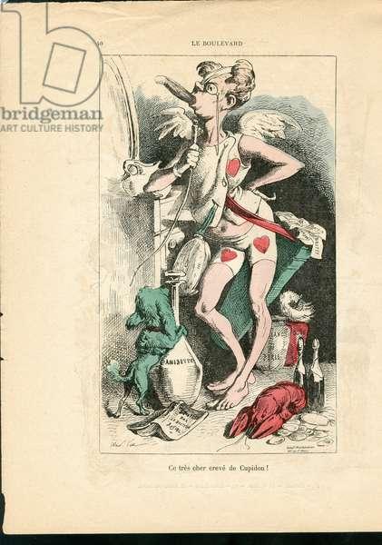 La Parody, 1869_7_4 - Illustration by Louis Alexandre Gosset de Guines dit Gill (1840-1885): Le boulevard - Cupid