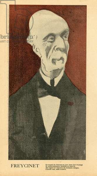 L'Plate au beurre, number 38, Satirique en couleurs, 1901_12_21: Freycinet Charles de (1828-1923) - Illustration by Leal de Camara (1877-1948)