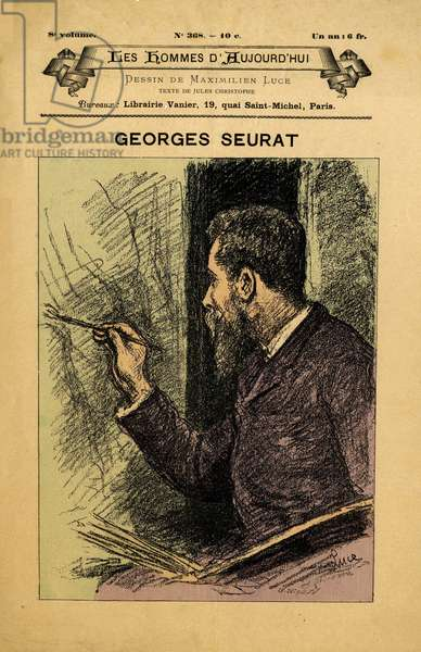 Cover of Les Hommes d'aujourd'hui, number 368,, illustration by Maximilian Luce (1858-1941): Seurat Georges (1859-1891)
