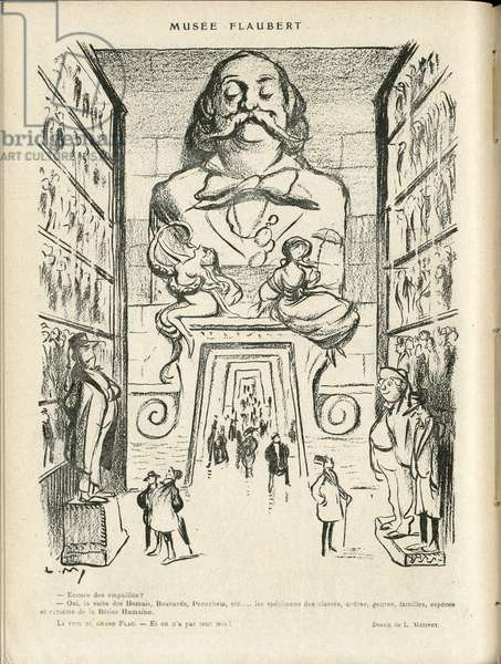 Illustration in Le Rire, 24/12/21 - Museum Flaubert (engraving)