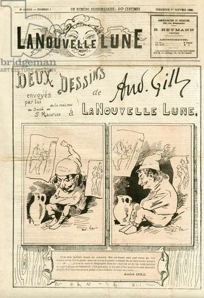 La Nouvelle Lune, 1882_1_1 - Illustration by Louis Alexandre Gosset de Guines dit Gill (1840-1885): Gill Andre