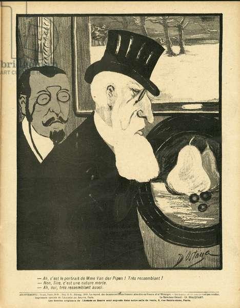 L'Plate au beurre, number 181, Satirique en couleurs, 1904_9_17: Belgium - Leopold II - Illustration by Georges d'Ostoya-Sochinsky (D'Ostoya) (1878-1937)
