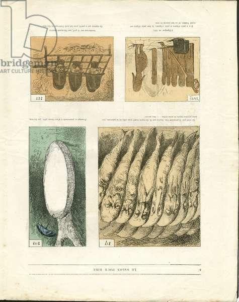 "Illustration by Louis Alexandre Gosset de Guines dit Gill (1840-1885) in """" Gill-Revue"""", 1868 - Art, Painting salons, Caricature salons - Vegetalisation"