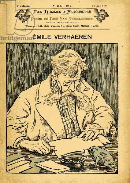 Cover of Les Hommes d'aujourd'hui, number 431,, illustration by Theo van Rysselberghe (1862-1926): Verhaeren Emile (1855-1916)