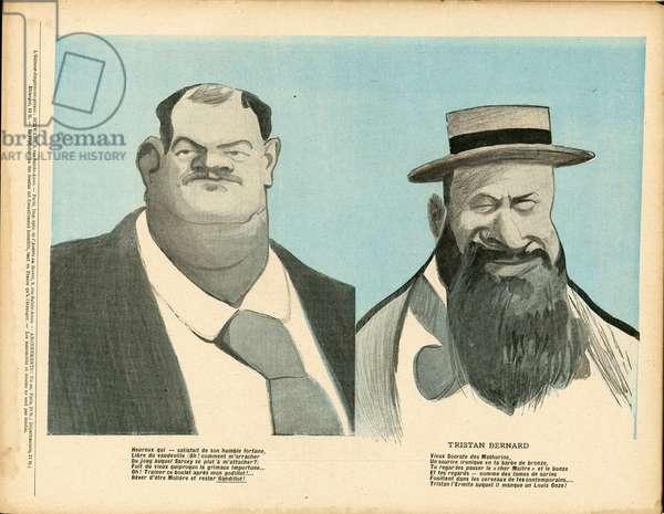L'Plate au beurre, number 101, Satirique en Couleurs, 1903_3_7: Literature, Academie francaise - Bernard Tristan (1866-1947), Leon Gandillot (1862-1912) - Illustration by Leal de Camara (1877-1948)