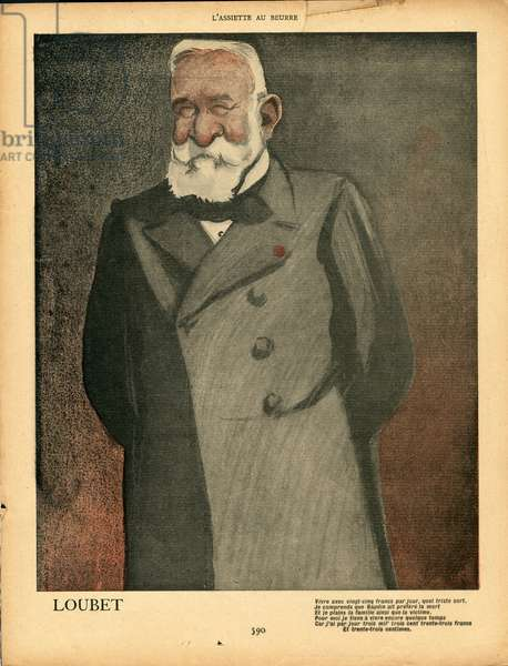 L'Plate au beurre, number 38, Satirique en couleurs, 1901_12_21: President of the Republic - Loubet Emile - Illustration by Leal de Camara (1877-1948)