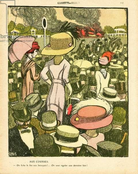 L'Plate au beurre, number 476, Satirique en couleurs, 1910_5_14: Life of the rich, Hippism, End of the world - Women - Illustration by J Gris (1887-1927)
