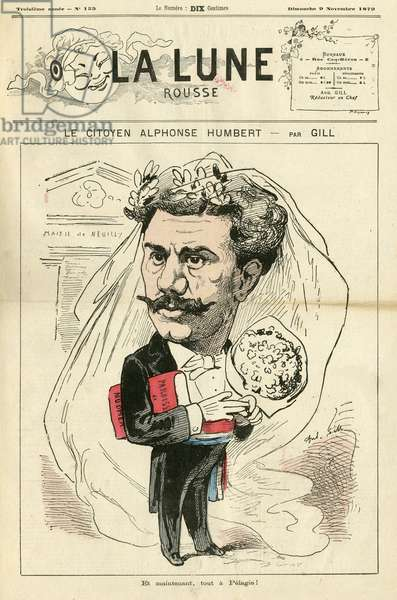 Illustration of Louis Alexandre Gosset de Guines dit Gill (1840-1885) for the Cover of La Lune rousse, 1879-11-9 - Neuilly - Humbert Alphonse (1844-1922)