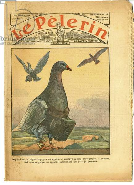 Cover of Le Pelerin, 03/06/34 - Traveller Pigeon - Photography Photographer, Colombophilia - Passenger Pigeons